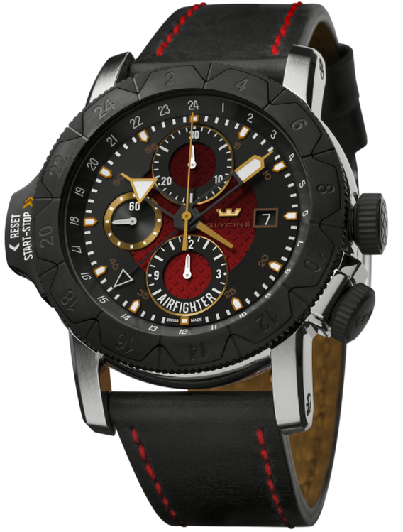 glycine airman airfighter chronograph replica watch