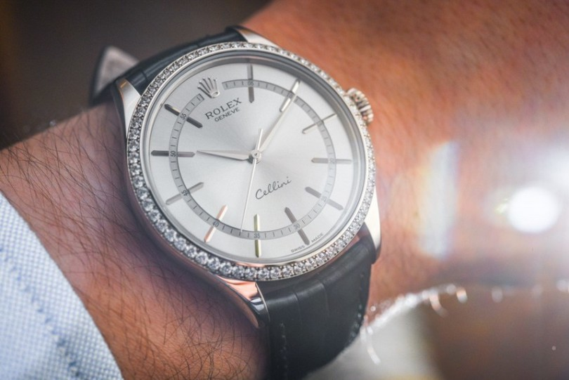 Rolex Cellini Time Diamond-Set Bezel Watch
